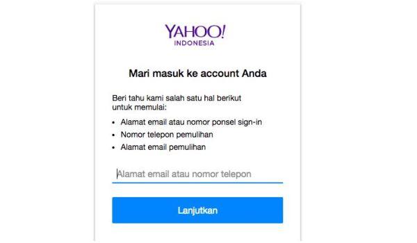 lupa password email yahoo dan nomor hp sudah tidak aktif