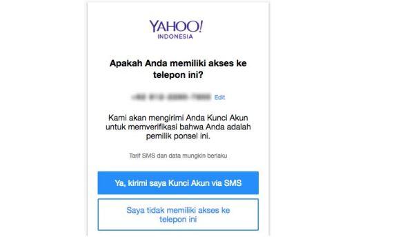 lupa password yahoo dan pertanyaan rahasia