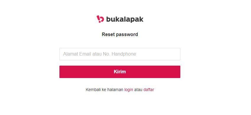 lupa password bukalapak