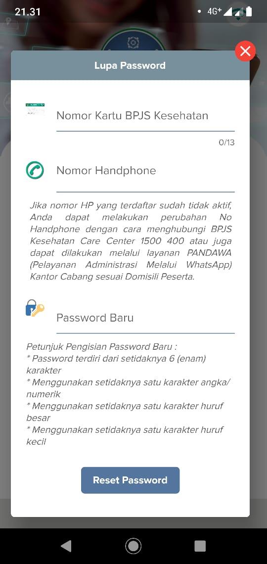 lupa password jkn mobile bpjs kesehatan